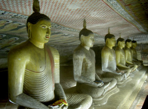 Lod Buddha Statues in Dambulla Golden Temple