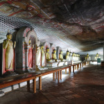 Lod Buddha Statues in Dambulla Rock Temple