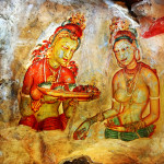 Ancient Fresco Sigiriya Sri Lanka