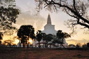Mirisavatiya Dagoba in Anuradhapura, Sri Lanka