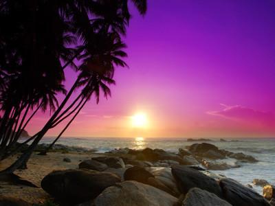 Sunrise on Sri Lanka
