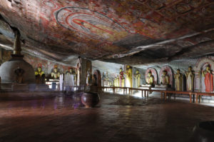 Lord Buddha's  Statues at Golden Temple of Dambulla