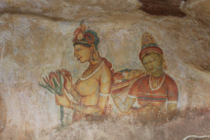 Fresco Paintings at Sigiriya Rock